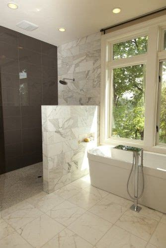 wall  shower  glass doorless shower design