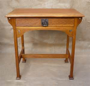 arts and crafts desk arts and crafts stylised oak desk antiques atlas