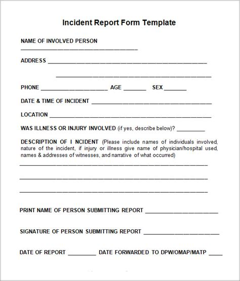 best photos of incident report sle incident