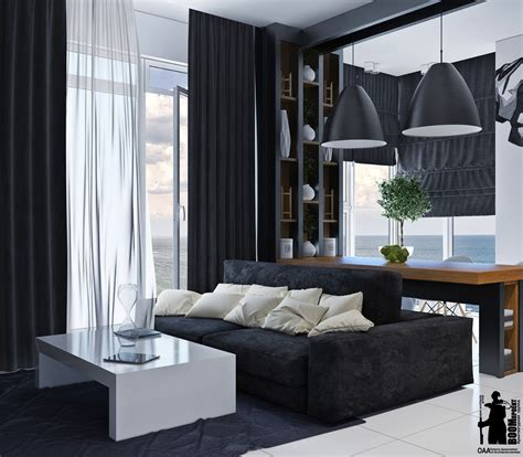 monochromatic living room colors idea combined  wooden element roohome
