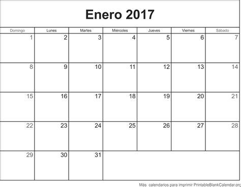 calendario 2017 para imprimir gratis enero 2017 calendario para imprimir calendarios para
