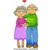 Vector  Old Couple Stock Illustration Royalty Free Illustrations