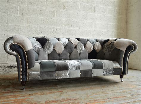 Chesterfield Patchwork Sofa - ghost walton patchwork chesterfield sofa abode sofas