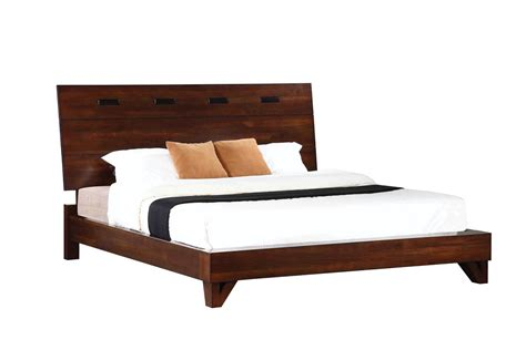 Eastern King Bed Frame Collection 204851ke Rustic Platform Eastern King Bed Frame In A Finish By