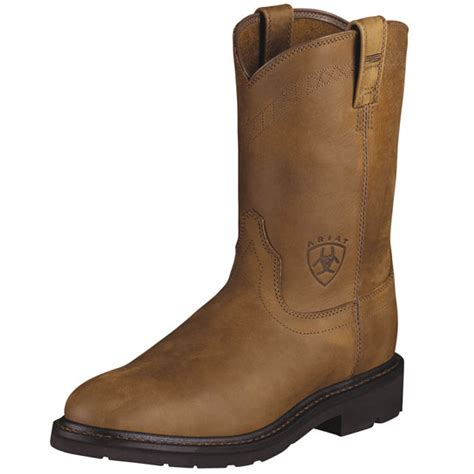 ariat steel toe boots ariat s steel toe work boots in aged bark