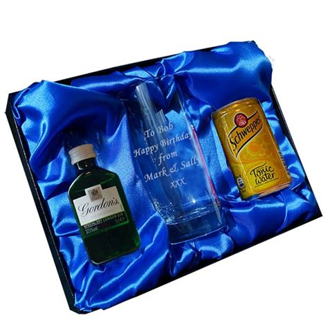 personalised gin gift sets by british and bespoke