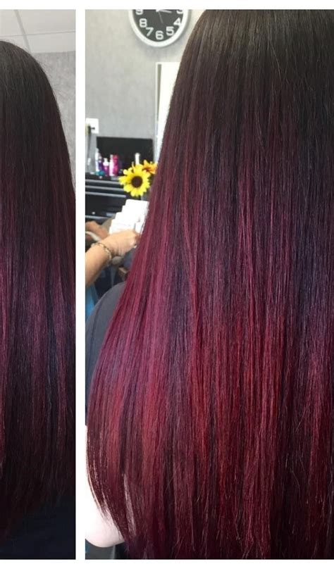 what hair dye is good for highlighted hair burgundy hair with dark red purple and brown highlights