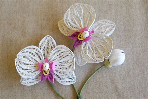 Paper Quilling Flower - quilled orchids created by alli bartkowski for the book