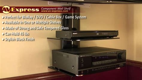 Wall Mounted Shelves by Dvd Wall Mount Component Shelf Av Express Review