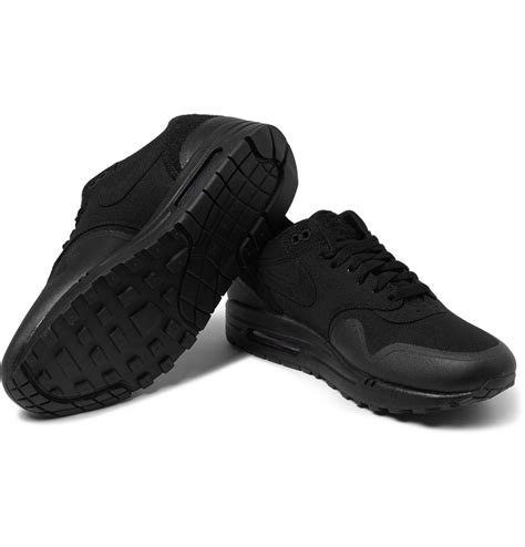 lyst nike tz air max  patch canvas  leather sneakers