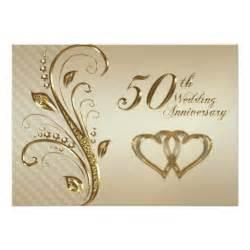 golden wedding anniversary invitation card 5 quot x 7 quot invitation card zazzle