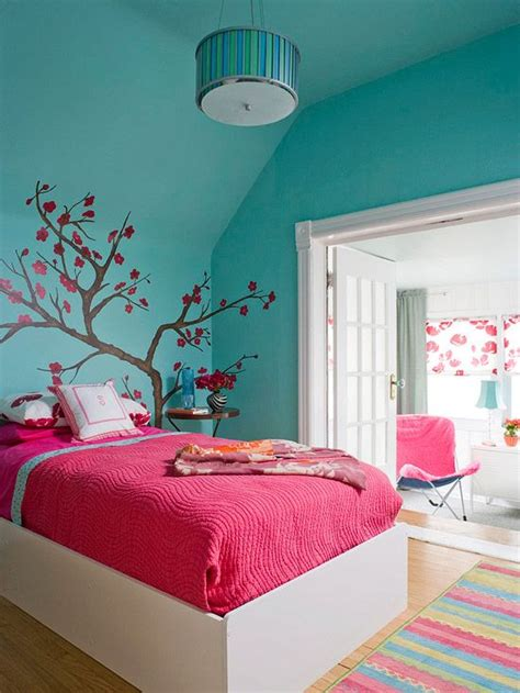 Teenage Room Colors | colorful girl bedroom design ideas teenage girl bedroom