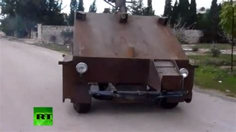 syfy please give us the insane brave new world series the syrian rebels build homemade tank out of car chassis game