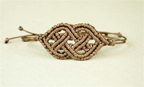 celtic knot macrame bracelet allfreejewelrymakingcom