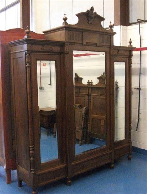 3 door antique armoire a334 large antique french henri style walnut 3 door