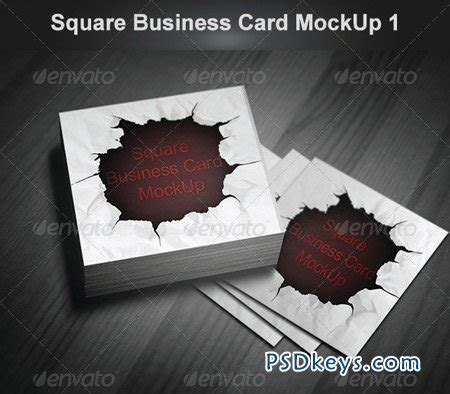 square business card mockup 89365 free download photoshop vector