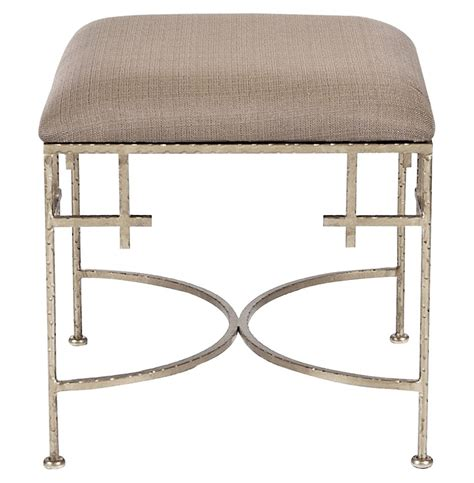 limelight regency light brown linen silver stool