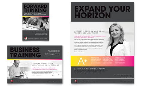 adss business card template education business school flyer ad template design