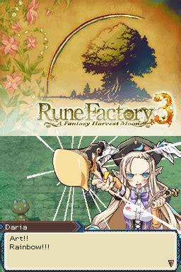 emuparadise rune factory 4 rune factory 3 a fantasy harvest moon u rom
