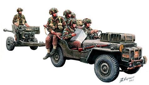 military jeep with gun british airborne willy s 188 ton jeep towing a 6 pdr anti