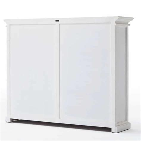 Low Storage Cabinet With Doors Halifax White Low Kitchen Storage Cabinet 8 Door Akd Furniture