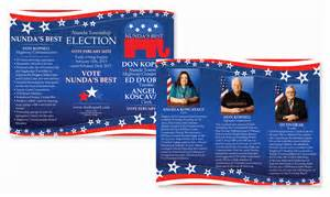 Political Brochure Template by Doc 600372 Political Brochure 14 Political Brochure