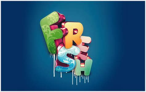 tutorial 3d typography illustrator 25 amazing photoshop 3d text effect tutorials dzineblog com