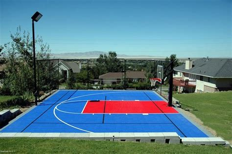 backyard multi sport outdoor courts contemporary