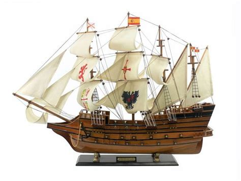 model boat in spanish buy wooden spanish galleon tall model ship limited 34 inch