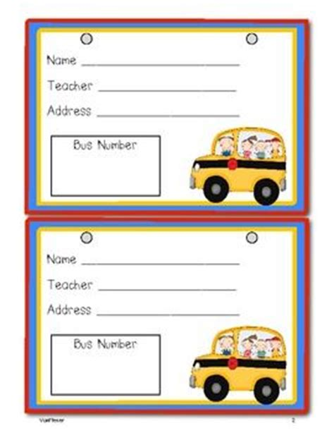 25 Best Ideas About Bus Tags On Pinterest Kindergarten Name Tags Labels For Kids And Car Rider Tags Template