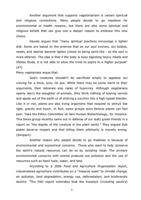 Being A Vegetarian Essay by Accademical Essay To Be Or Not To Be A Vegetarian Mla Sem 2