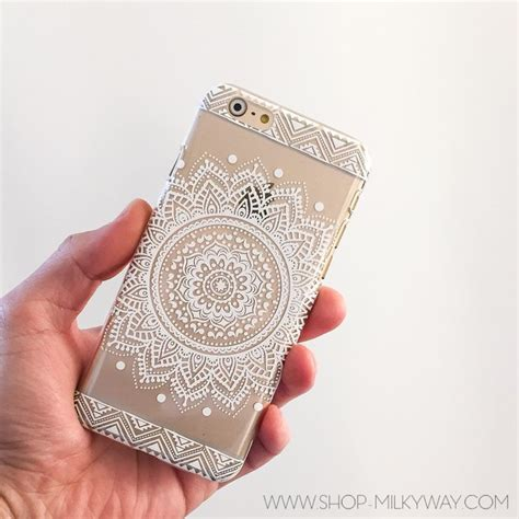 henna design iphone 6 case clear plastic case cover for iphone 6 4 7 quot henna sundala