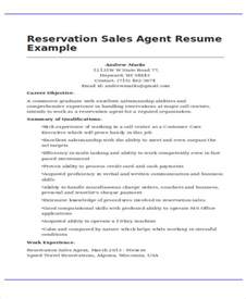 Hotel Reservations Sle Resume by 47 Basic Sales Resume Free Premium Templates