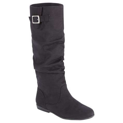 Trend Alert Slouchy Boots by S Marisa Black Fashion Slouch Boot Simple Elegance