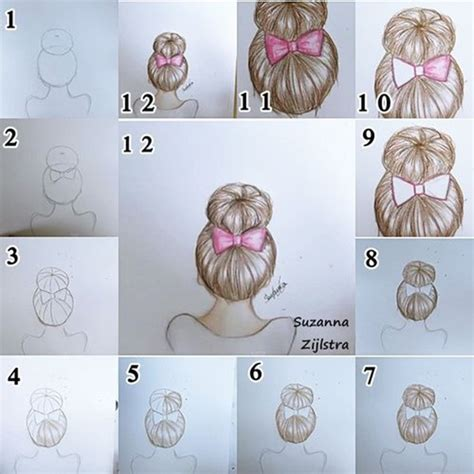pictures of step by step how to do box braids styles how to draw hair step by step image guides