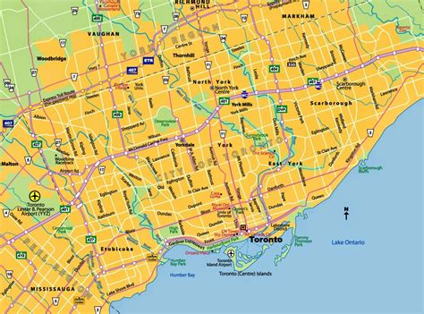 maps ontario directions maps of toronto ontario canada free printable maps