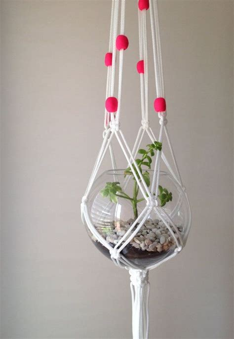 Macrame Plant Holders - macrame plant hanger planters metals and goldfish