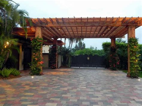 Attached Carports Pergola Not Driveway Outdoors Outdoor Living Spaces