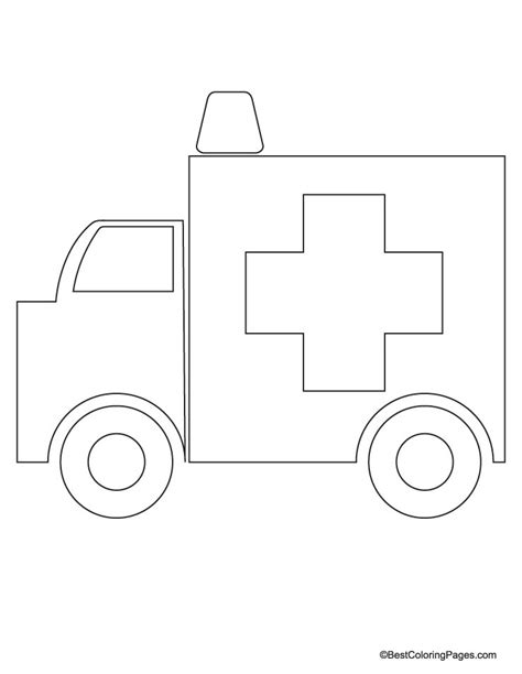 ambulance coloring page free ambulance free colouring pages