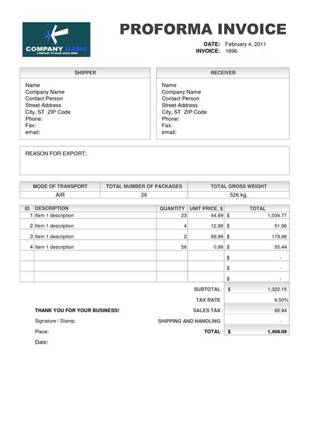 Proforma Invoice Template Download Free Invoice Template Ideas Free Proforma Invoice Template