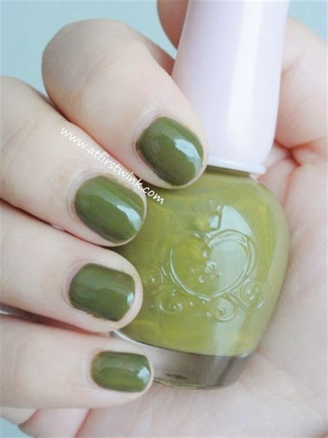 review etude house nail dgr704 only olive