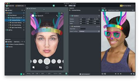 Snapchat Bulks Up Lens Studio With Face Templates Giphy Integration More 171 Next Reality Lens Studio Templates