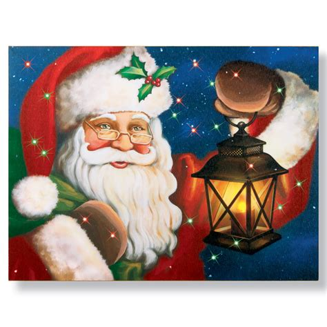 lighted collections lighted santa claus canvas by collections etc