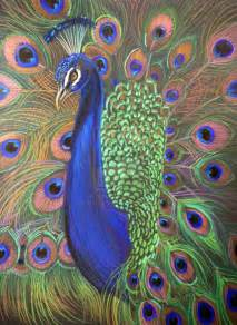 Peacock prismacolor 2 by houseofchabrier traditional art drawings