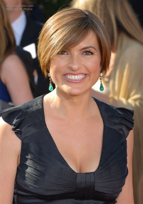 Mariska Hargitay's short and sporty head hugging hairstyle