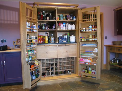Freestanding Pantry Cabinet For Kitchen larder another idea to give a retro feel to your kitchen
