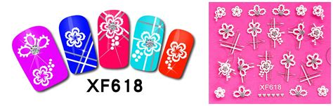 Nail Bonbon Water Decals Xf Series Part 2 î 2017 top fashion rushed manicure â nails nails 2 sheet xf continental â ª carved carved stickers