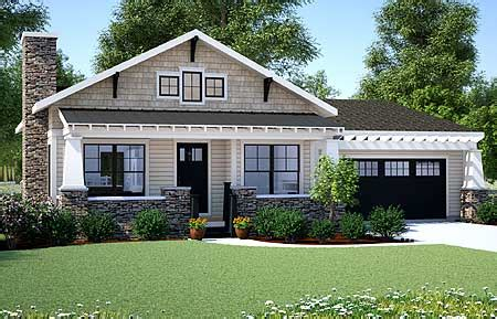 bungalow house plans with porches simple one story houses plan 18267be simply simple one story bungalow craftsman