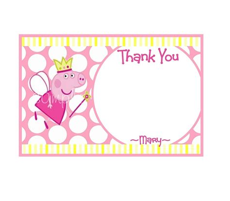 Peppa Pig Thank You Card Template by 118 Best Peppa Images On