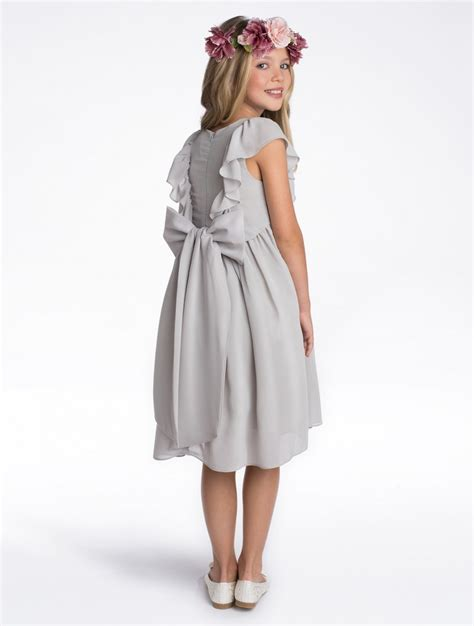 Dress Elsa Grey grey flower dress grey pleated dress timeless elsa roco